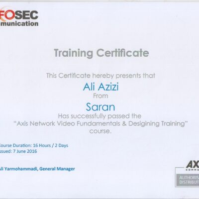 Training Certificate Saran